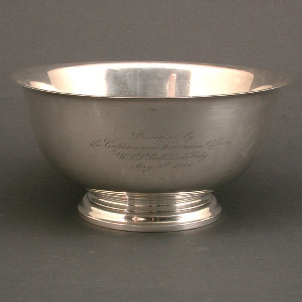 2: Gorham Sterling Commemorative Bowl, USS Salt Lake Ci