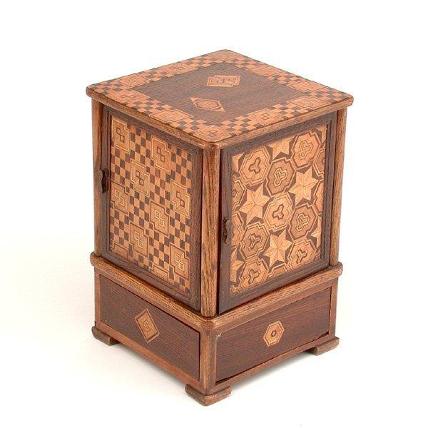 8: Wooden Inlaid Cigar Box
