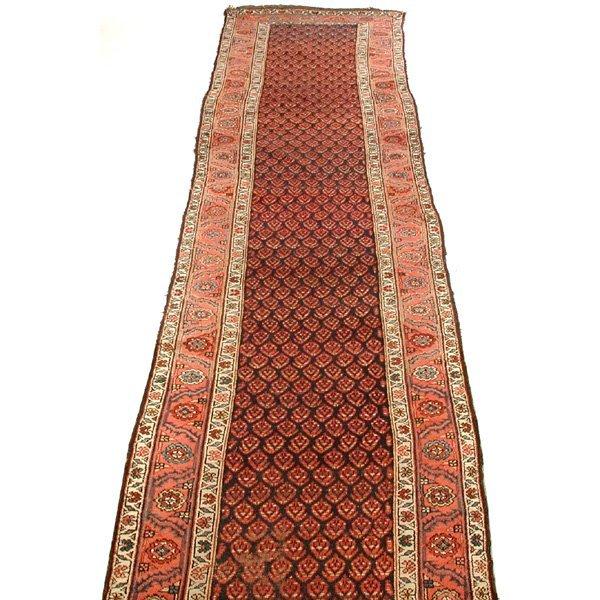 10: Northwest Persian Runner, Ivory, Rust, Indigo