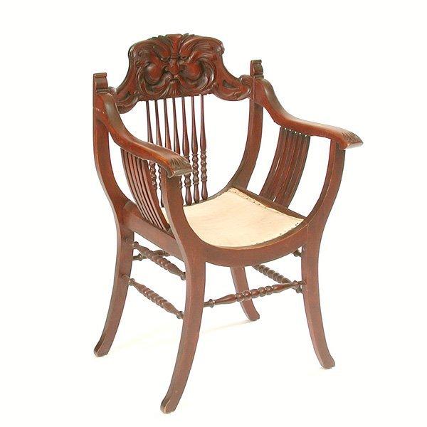 12: American Renaissance Revival Chair, 19th C