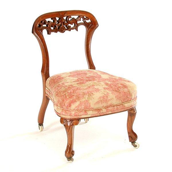 15: American Fruitwood Slipper Chair, 19th. C
