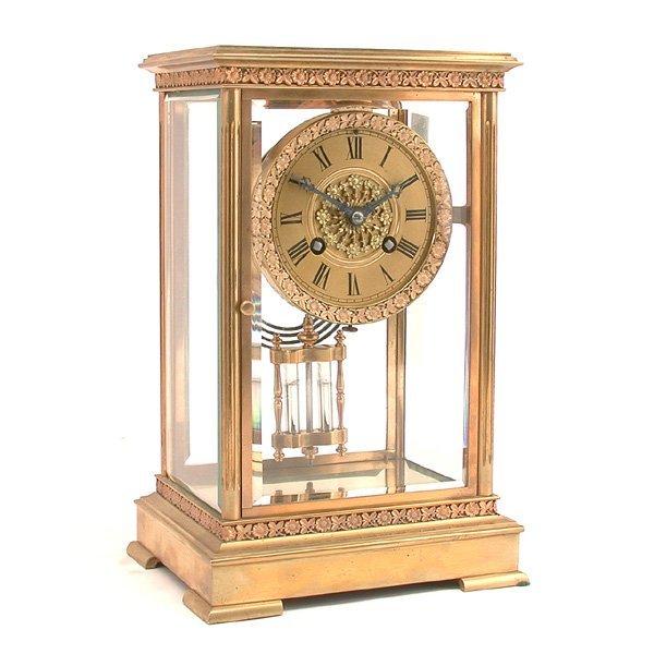 17: Tiffany & Co. Brass Crystal Regulator