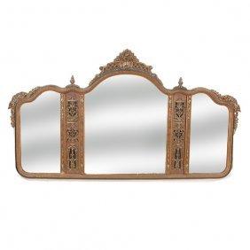 Edwardian Triptych Mirror, Early 20th. C