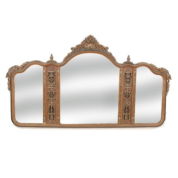 57: Edwardian Triptych Mirror, Early 20th. C