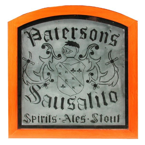 "62: Cut Glass Advertisement ""Pattersons, Sausalito"""