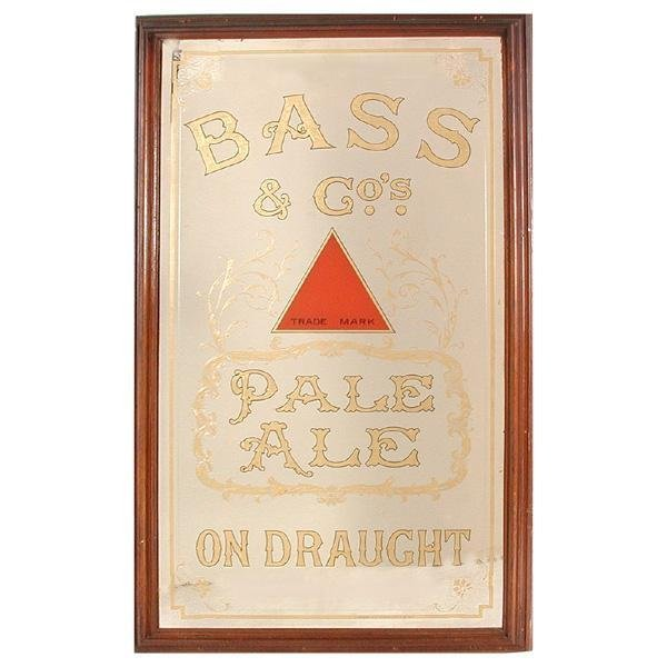 "64: Advertising Mirror, ""Bass & Co. Pale Ale"""