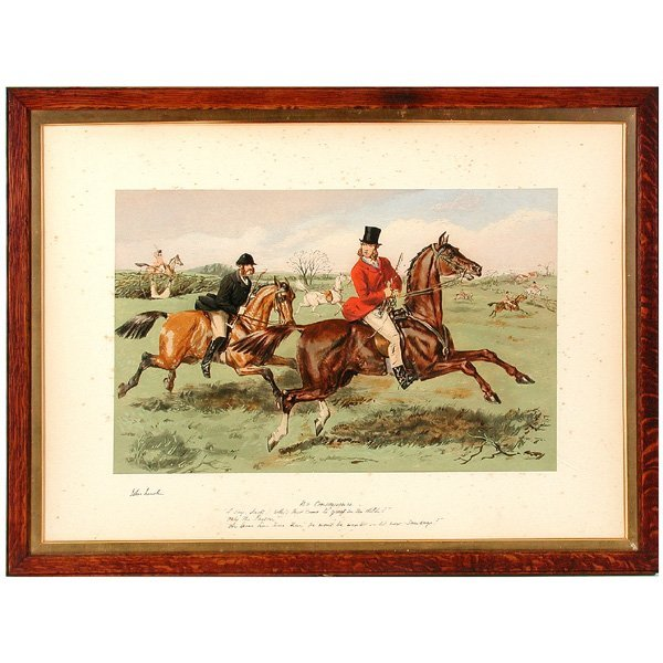 67: English Fox Hunting Print