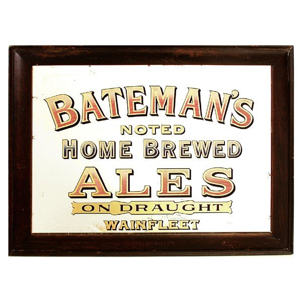 71: Advertisement, Reverse Painted Mirror, Batemans