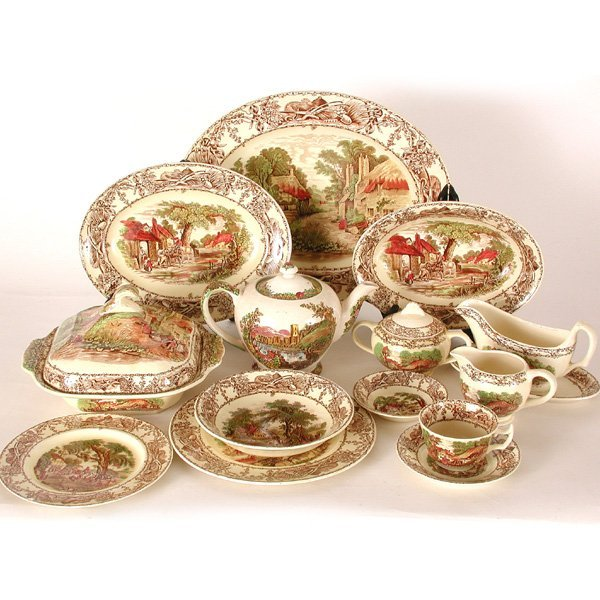 sc 1 st  LiveAuctioneers & 299: Royal Staffordshire Dinnerware Rural Scenes