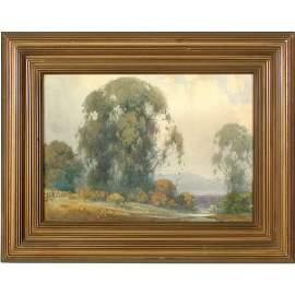 442: Percy Gray Painting, View Of Mt. Tamalpais