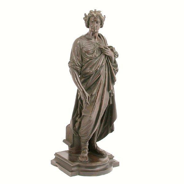 2: Marcel Aubert Sculpture, Bronze Figure Of Roman