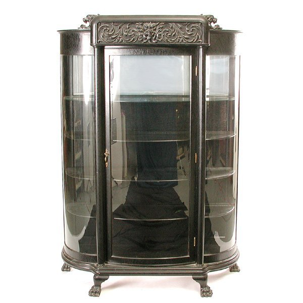 4: Victorian Curved Front China / Display Cabinet