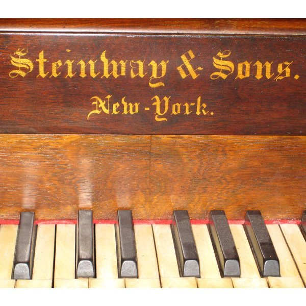 6: Steinway Square Grand Rosewood Piano - 2