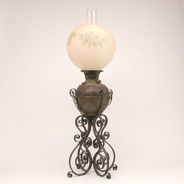 "13: Victorian ""Rayo"" Kerosene Lamp"