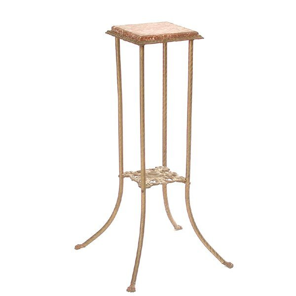 21: Victorian Marble Top Plant Stand