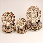250: English Royal Crown Derby Porcelain, 32 Pcs.