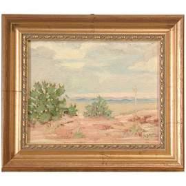 390: Alson Skinner Clark Painting, Desert