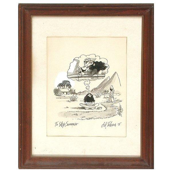 399: B. Kliban, Cartoon Drawing, Yogi Dreams - 2