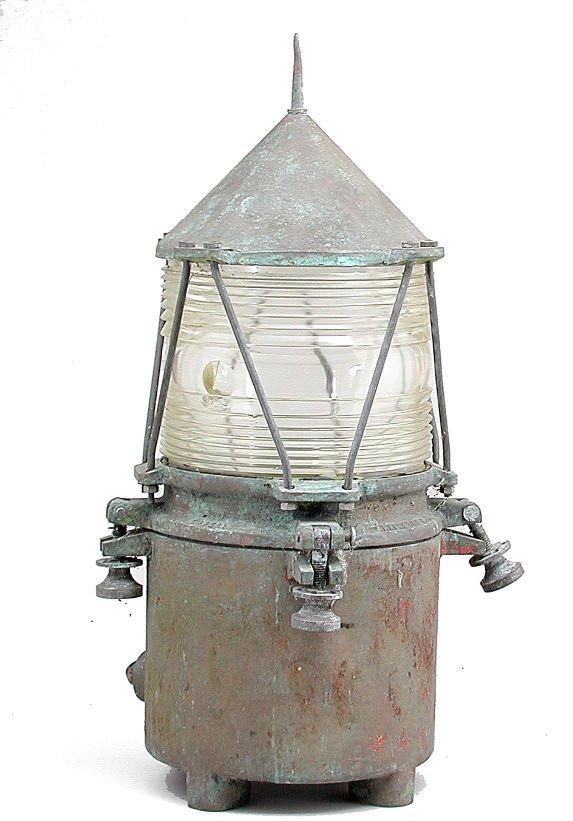 19: Bronze Lighthouse Lamp
