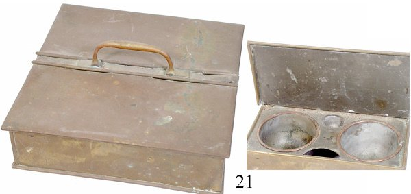 21: Brass Carrying Container