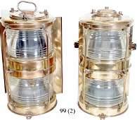 99 Pair of Brass Ship Lights
