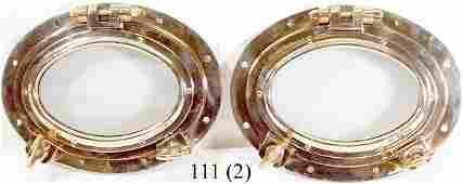 111 BrassCopper Portholes Pair