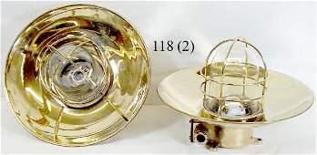 118 Pair of Brass Ships Lights