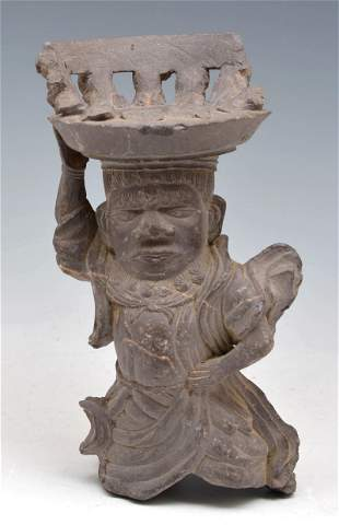 Pre Columbian figural stone carving