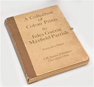 Book of Color Prints Jules Guerin & Maxfield Parrish