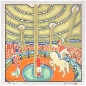 Ilonka Karasz American 18961981 watercolor Circus