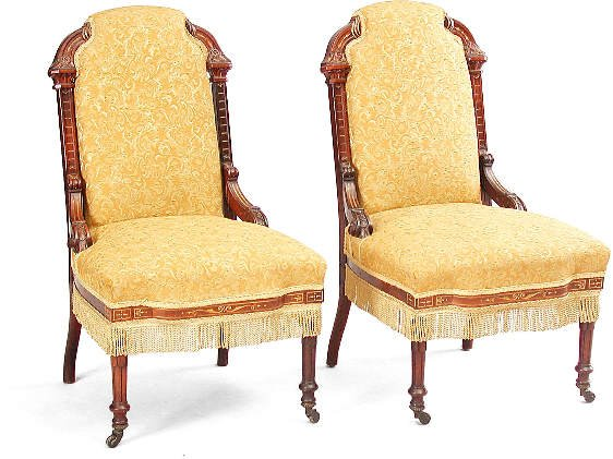 17: Pair of Pottier & Stymus Chairs