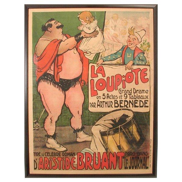 "1: Francisque Poulbot, Circus Poster, ""La Loupiote"""