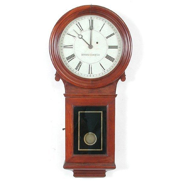 2: Boston Clock Co. Weight Driven Wall Regulator, 19th.