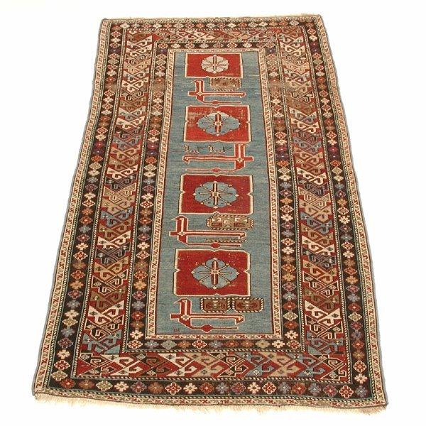 3: Persian Rug, Karagashli, Rust & Sky Blue