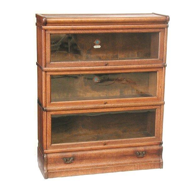 10: Globe Wernicke Oak Stacking Bookcase