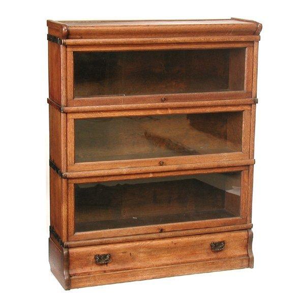 11: Globe Wernicke Oak Stacking Bookcase