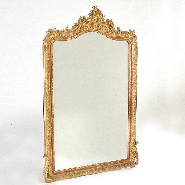 18: Continental Gilt Framed Parlor Mirror