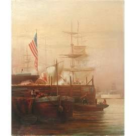 588: Wm. L. Judson Painting, New York Harbor 1879