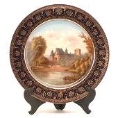 679: Sevres Porcelain Cabinet Plate By Gauilpos, 19th.