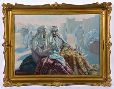 Feliks K. Wygrzywalski, Two Carpet Merchants, o/c