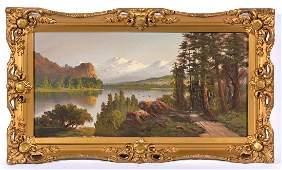 John Englehart, 3 Sisters Mountain Lake Landscape, o/c