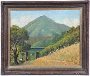 Christian Peterson Skov, Mount Tamalpais, oil on canvas