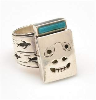 Denise Wallace seal mask sterling ring