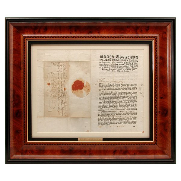5: Autographed Letter Empress Maria Theresa, Austria