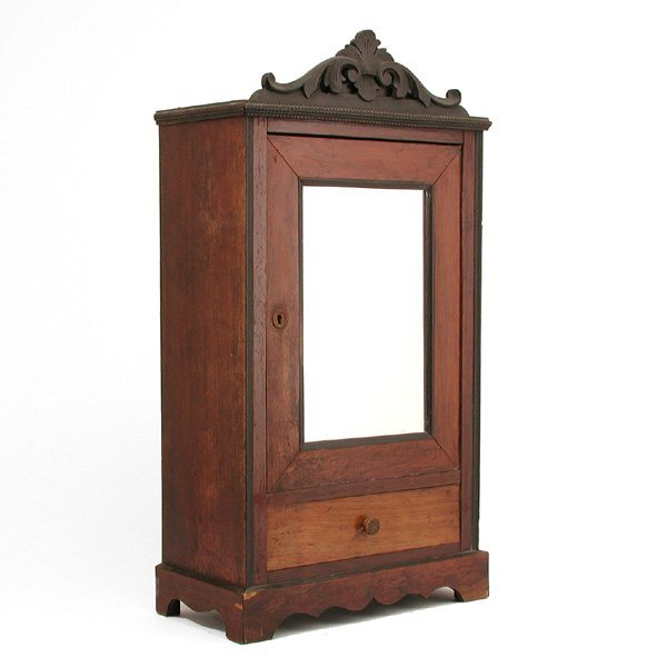 14: Miniature Rosewood Armoire
