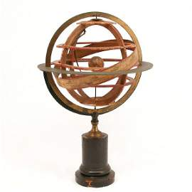 64: Ptolemeic Armillary Sphere, Delamarche, Early 19th.