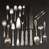 142 Sterling Silver Flatware Asstd Serving Pcs