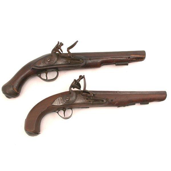 8: Lot of two flintlock pistols.