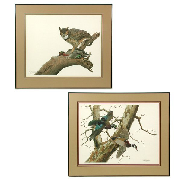 16: Two Wildlife Prints, Wm. Zimmerman
