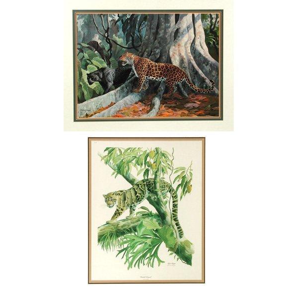 22: Two Framed Wildlife Prints by Arthur Singer